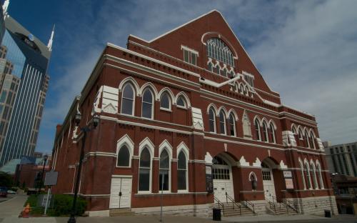 Nashville's iconic Ryman Auditorium.